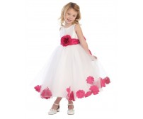 Blossom Taffeta & Tulle w/ Detachable Sash, Flower, & Petals Infant Dress
