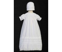 Smocked Bodice Long Baptism or Christening Gown