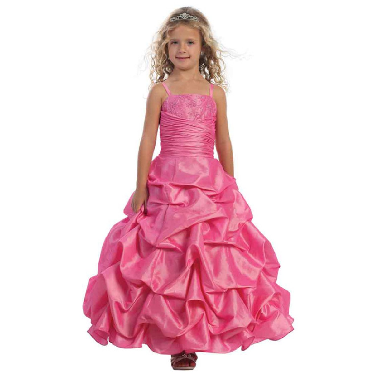 Stunning Taffeta Pick Up Full Length Dress With Beaded Bodice And