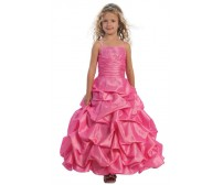 Stunning Taffeta Pick-Up Full Length Dress with Beaded Bodice and Bolero Jacket