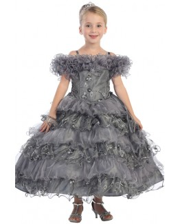 Princess Beaded Organza Ball Gown