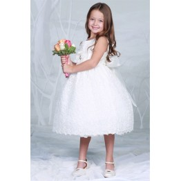 Exquisite Crinkle Lace First Communion Dress