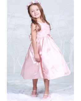 Rosebud Accented Taffeta Dress