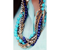 Multi Strand Beaded Crystal Necklace