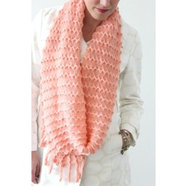 Knit Infinity Scarf with Tassels