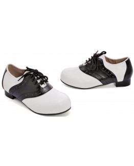 Saddle (Black/White) Child Shoes