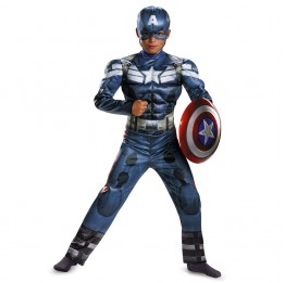 Captain America Winter Soldier Classic Muscle Childs Costume