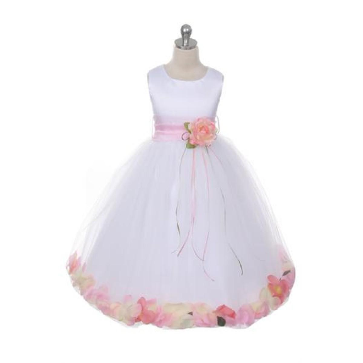 40a2981b524 Sleeveless Satin Flower Petal Dress