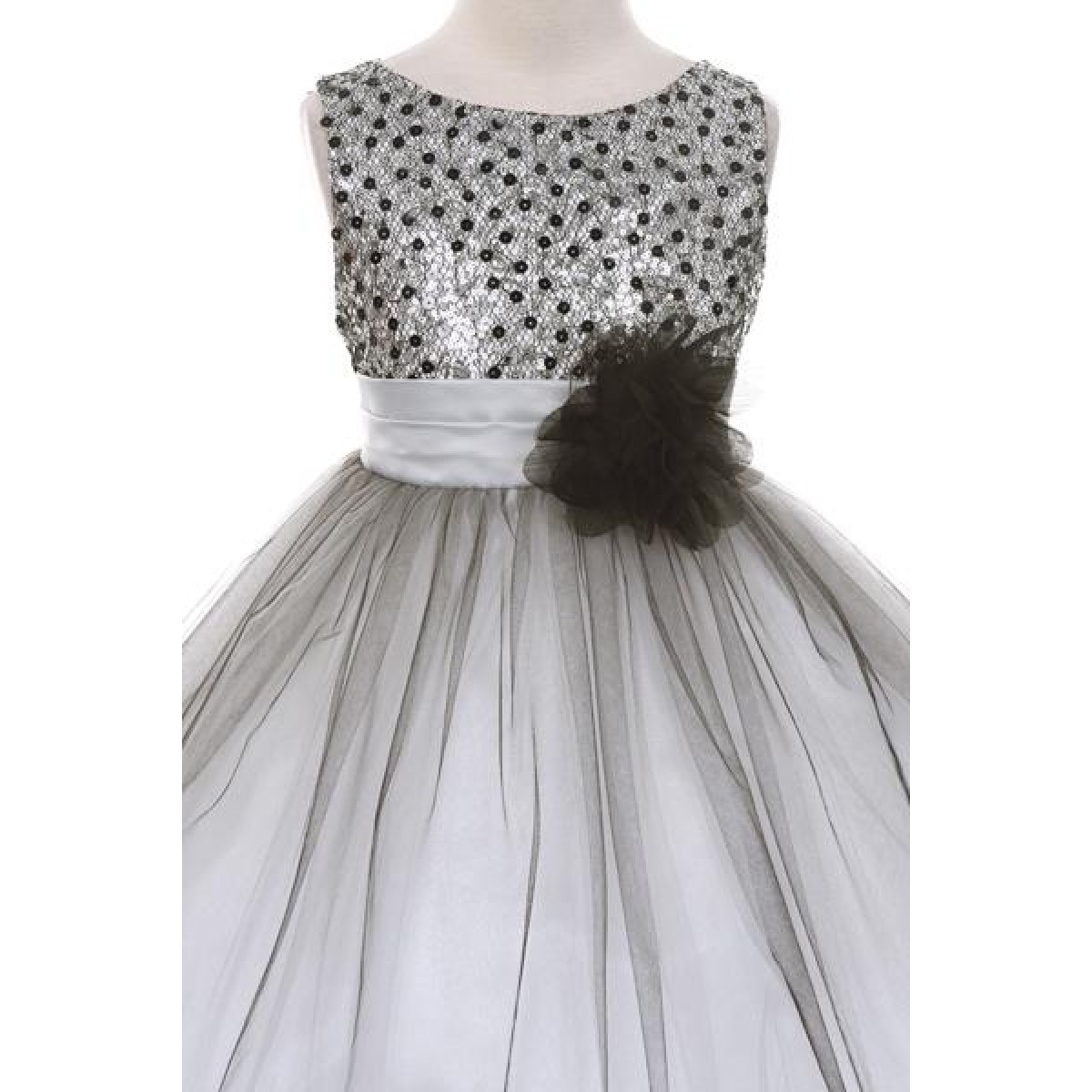 ad69d6db7252 pretty cheap 4238a 2c4f1 a silver sequin dress with a full tulle ...