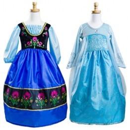 Frozen Anna Scandinavian Princess & Queen Elsa Ice Princess Replica Dress Up Set