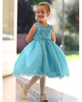 Exquisite Pageant Style Dress with Floral Caviar Beading
